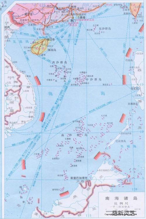 南海诸岛分布图